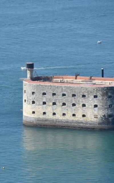 Aerial view of Fort Boyard - ©FDHPA17