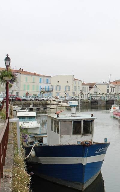Les quais du port de Marans - ©P.Migaud / FDHPA17