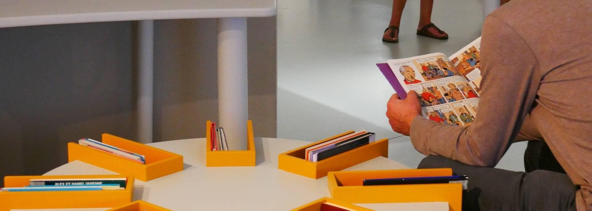 Espace de lecture au musée de la Bande Dessinée - ©P.Migaud / FDHPA17