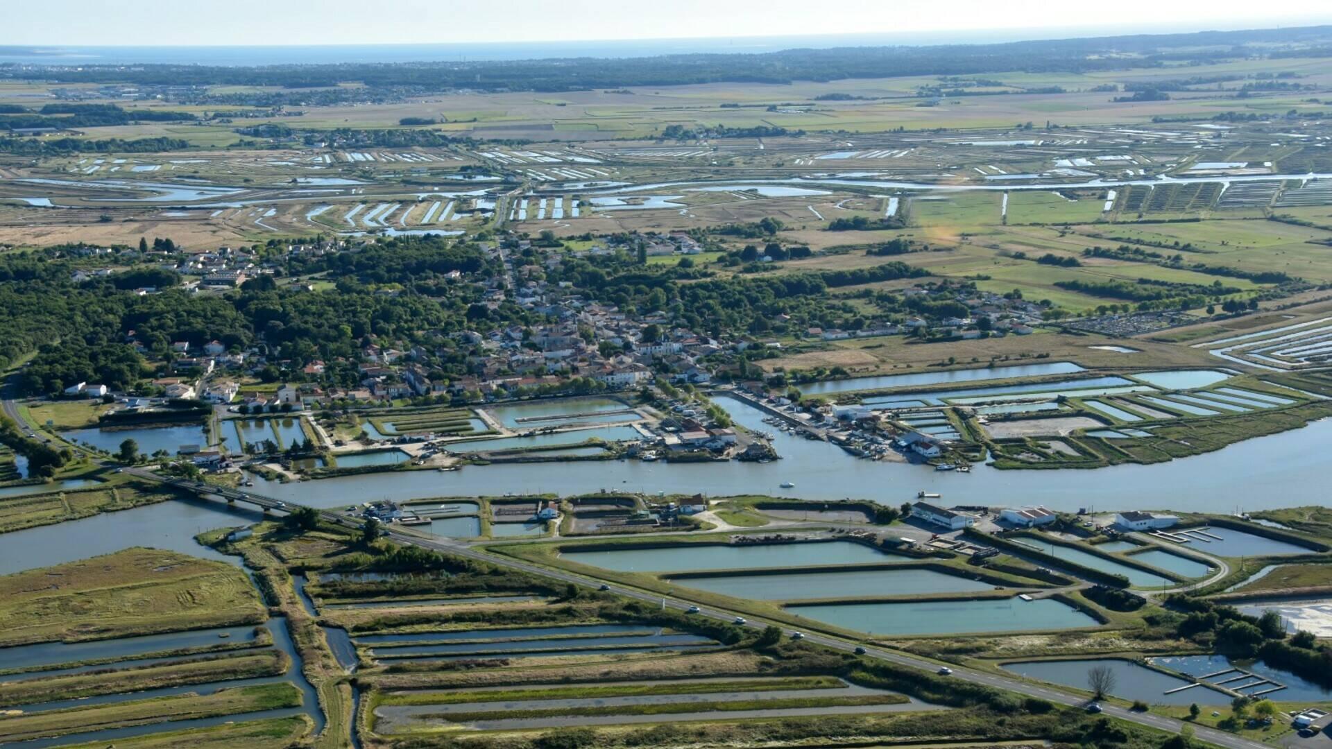 vue aérienne de l'Éguille-sur-Seudre @FDHPA 17