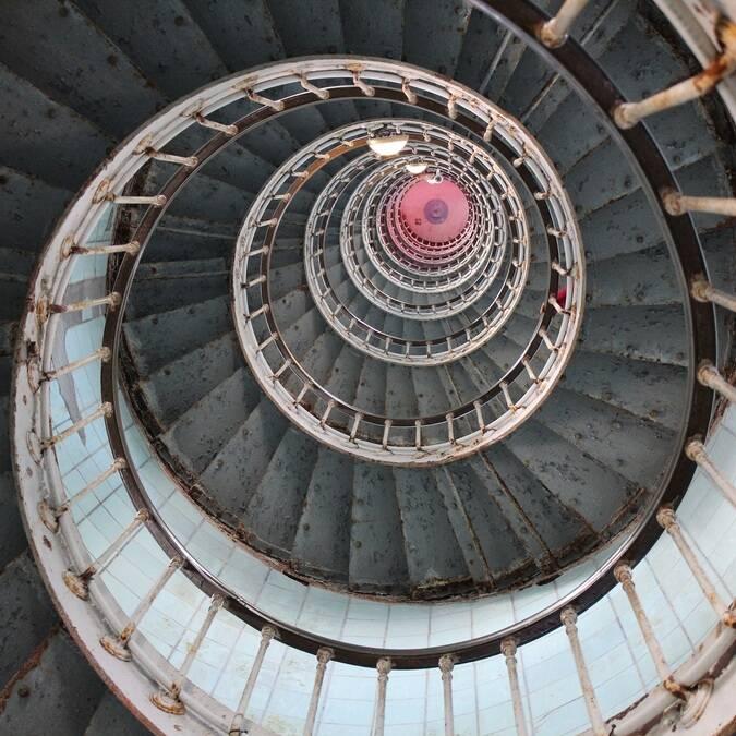 Escalier du phare de la Coubre - ©P.Migaud / FDHPA17