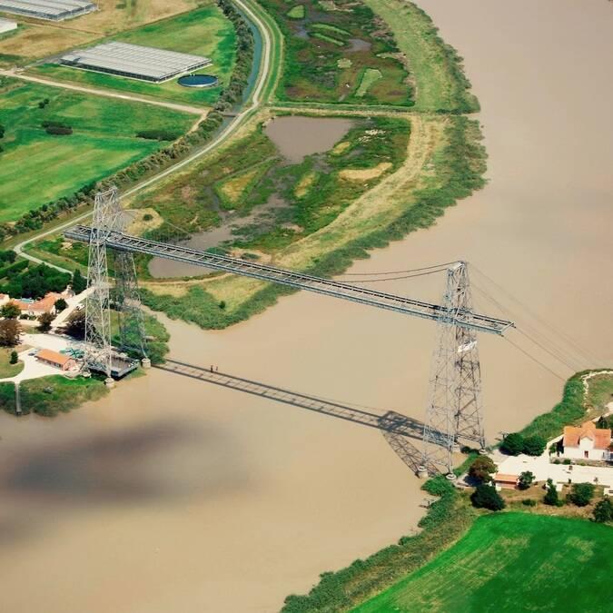 Vue aérienne du Pont Transbordeur