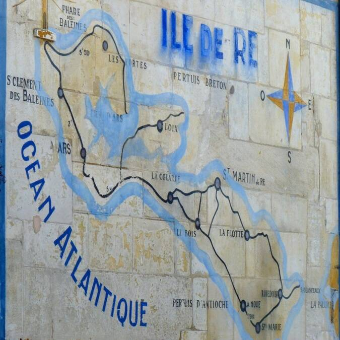 Carte de l'île de Ré - ©P.Migaud / FDHPA17