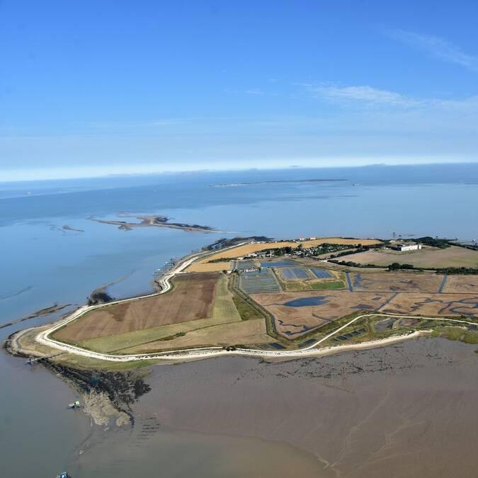 Vue aérienne de l'île Madame